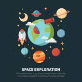Space theme banners and cards — Stock Vector
