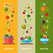 Concept banners with flat vegetable icons — Stock Vector #77781260