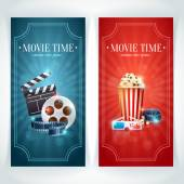 Realistic cinema movie poster — Stock Vector