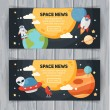 Space theme banners and cards — Stock Vector #78920288