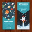 Space theme banners and cards — Stock Vector #78920320
