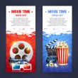 Realistic cinema movie poster template — Stock Vector #78920330