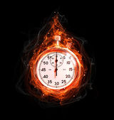 Fire stopwatch — Stock Photo