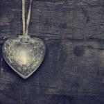 Vintage Valentine heart — Stock Photo #63574143