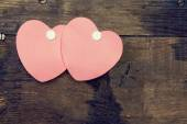 Two heart shaped sticker — Stock Photo