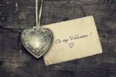 Vintage Valentine background — Stock Photo
