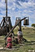 Loading catapult — Stock Photo
