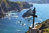 Calvary on cliff — Stock Photo