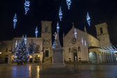 Norcia main square  during Christmas — Stock Photo