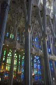 Janelas de vidro manchadas em Sagrada família — Fotografia Stock