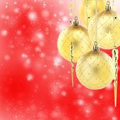 Adornos de árbol de navidad oro. — Foto de Stock