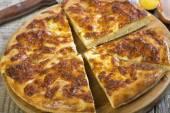 Khachapuri Mengrelian. Cheese pie. — Stock Photo