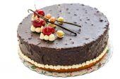 樱桃和香草蛋糕. — 图库照片