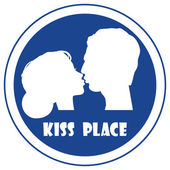 Place for kiss sign — Stock Vector
