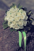 Bouquet white roses — Stock Photo