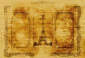Paris - Vintage paper — Zdjęcie stockowe