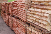 Pallets of red brick  — Stock Photo