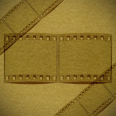 Bronze paper texture with film flame — Stock Photo