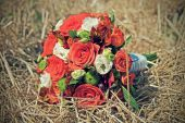 Wedding flowers vintage toning — Stock Photo