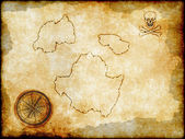 Pirate map on vintage paper — Stock Photo