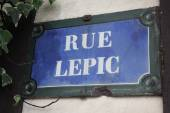 Rue Lepic — Stock Photo