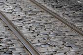 Rails in Lisbon — Stock Photo