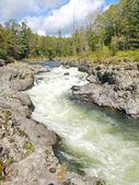 Rough taiga river — Stock Photo