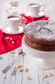 チョコレート、アーモンド ケーキ — ストック写真
