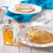 Постер, плакат: Cooked pineapples with honey