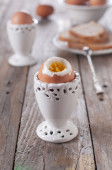Boiled healthy eggs — Stock Photo