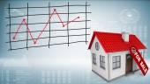 販売のためのラベルの小さな家 — ストック写真
