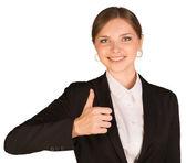 предприниматель, показывая большой палец вверх — Стоковое фото