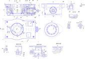Rysunek inżynieria urządzeń przemysłowych — Wektor stockowy