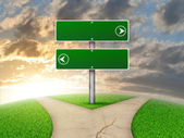 Crossroads road sign — Stock Photo