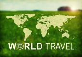World Travel header — Stock Photo