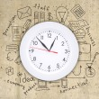 Business concept drawing around wall clock — Stock Photo #61980203