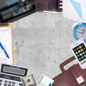 Business concept with office and business work items — Stock Photo
