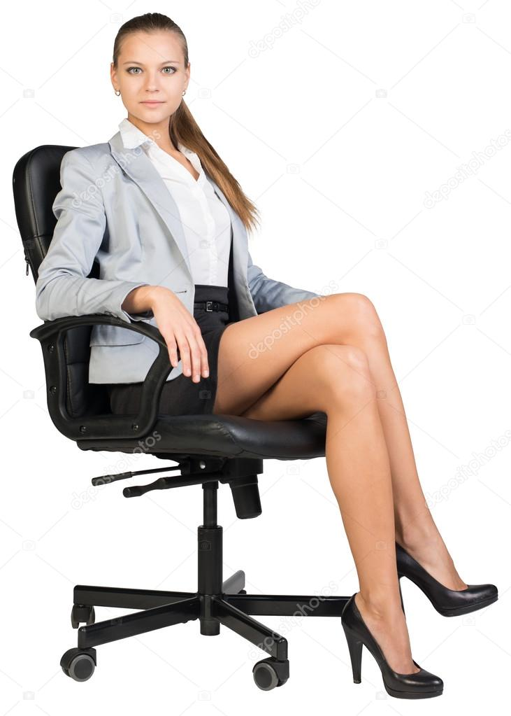 Office worker Sabrina Moore posing fully clothed in business outfit  234720
