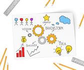 Development of vital ideas for organizations — Stock Photo