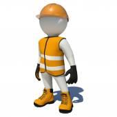 Pracownik w pomarańczowy kombinezon. — Zdjęcie stockowe