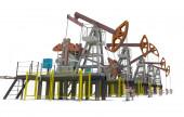 Oil pump-jacks. Isolated — Foto Stock