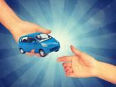 Saling blue car — Stock Photo