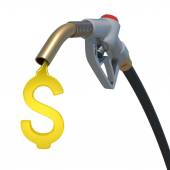 Grey hose tube with oil dollar — Stock Photo
