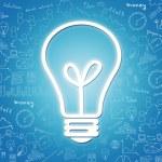 Ícone de lâmpada elétrica grande — Fotografia Stock  #71623181