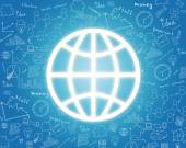 Globe icon useful for touch screen — Stock Photo