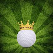 Golf ball with crown — ストック写真