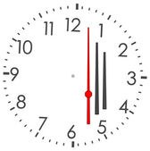 Round clock — Stock Vector