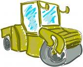 Drawn asphalt spreader — Stock Vector