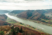 Beautiful landscape with danube river — Stock Photo