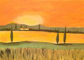 Sunset in Tuscany — Stock Photo